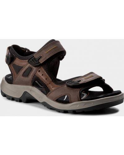 Кожаные сандалии - коричневые Ecco