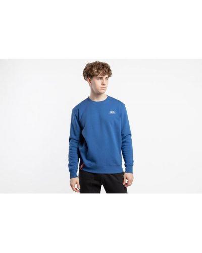 Klasyczny niebieski sweter bawełniany Alpha Industries