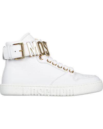 Кроссовки белые Moschino