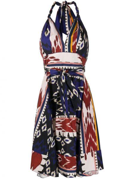Платье с открытой спиной с V-образным вырезом Forte Forte