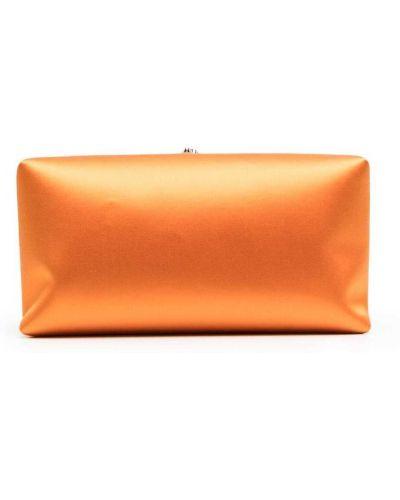Pomarańczowa satynowa kopertówka Jil Sander