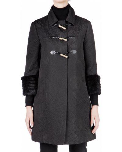 Черное пальто с капюшоном John Galliano