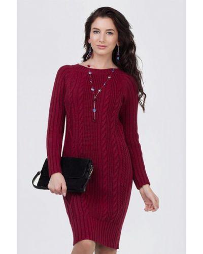 Платье бордовый вязаное Happychoice