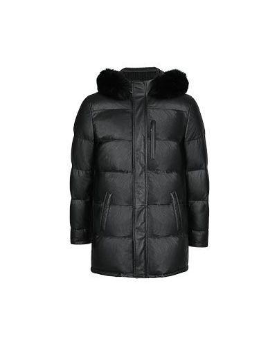 Черная кожаная куртка Enrico Mandelli