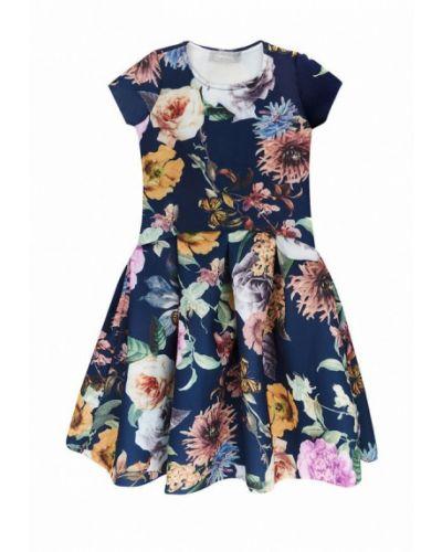 Повседневное синее платье Kids Couture