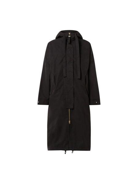 Czarny płaszcz z kapturem G-lab