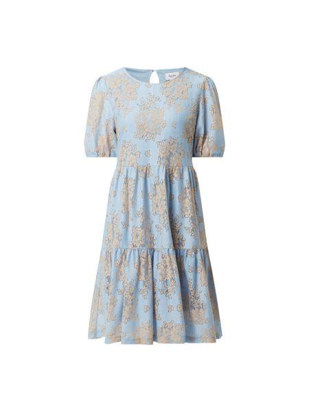 Sukienka rozkloszowana krótki rękaw - niebieska Saint Tropez
