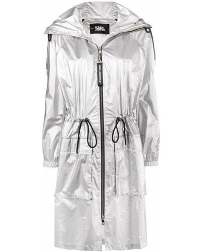 Szary płaszcz przeciwdeszczowy Karl Lagerfeld