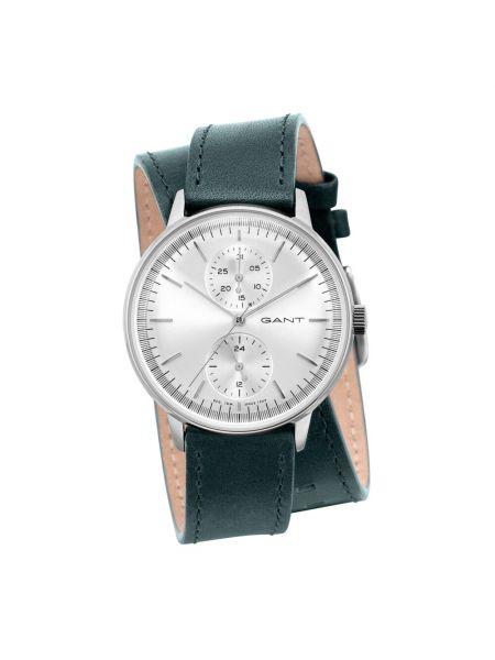 Zielony zegarek mechaniczny srebrny kwarc Gant