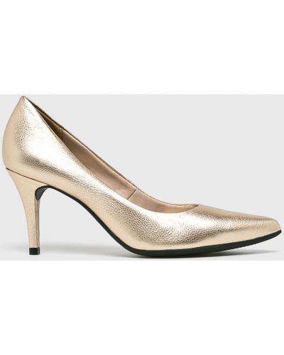 Кожаные туфли на каблуке на шпильке Answear