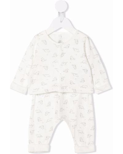Biała piżama bawełniana Petit Bateau