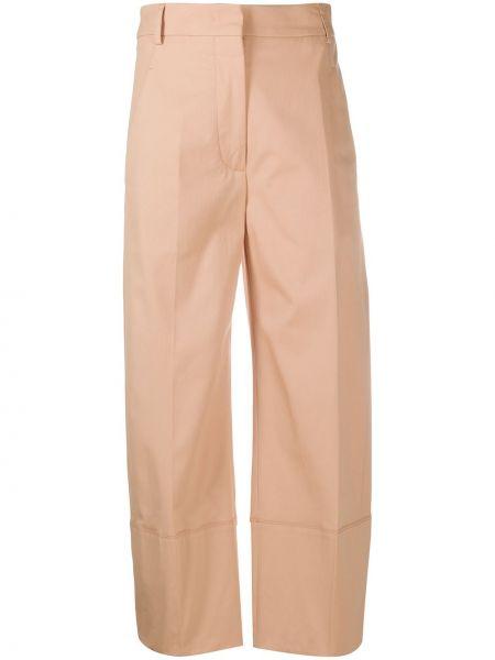 Różowe spodnie bawełniane z paskiem Cedric Charlier