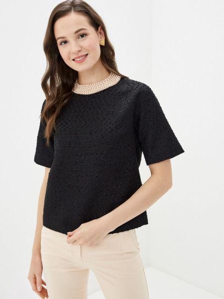 Блузка с коротким рукавом черная весенний Lusio