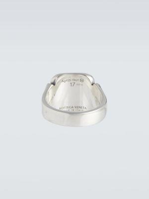 Klasyczny pierścionek srebrny Bottega Veneta