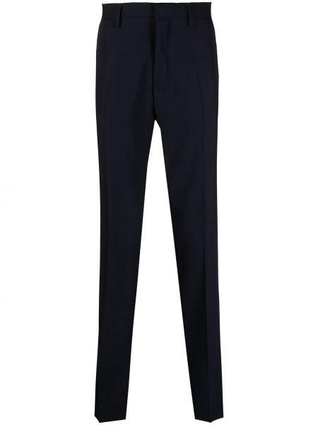 Шерстяные синие брюки с карманами Tiger Of Sweden
