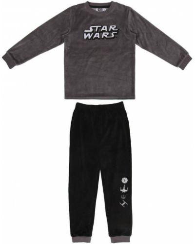 Czarna piżama bawełniana Star Wars