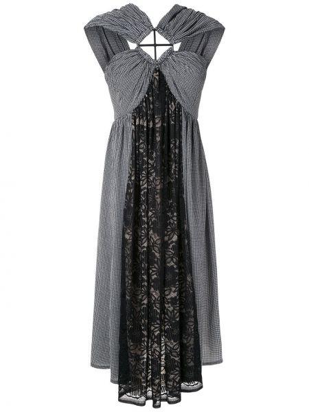 Свободное кружевное черное платье À La Garçonne