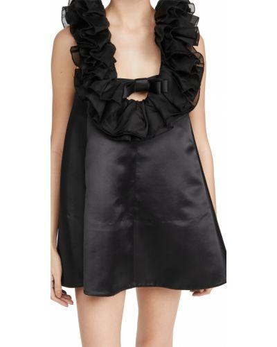 Satynowa czarna sukienka Shushu/tong