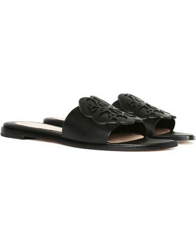 Sandały płaskie - czarne Alexander Mcqueen