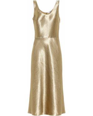 Платье золотой Vince.