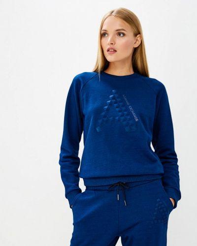 Синий свитшот Armani Exchange