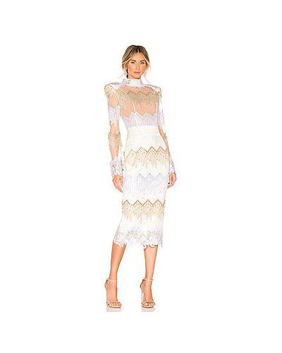 Платье миди с вышивкой сетчатое Zhivago