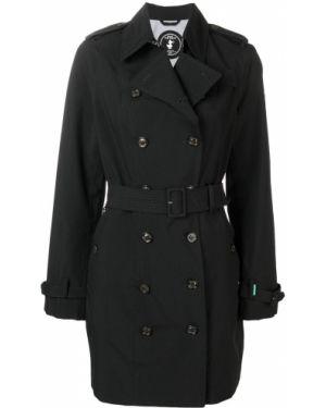 Черный пальто классическое на пуговицах с воротником Save The Duck