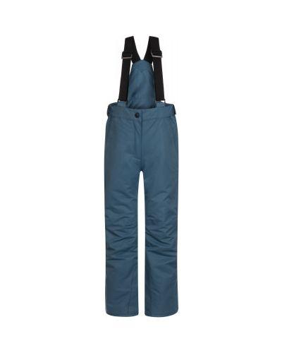Прямые серые утепленные брюки Glissade