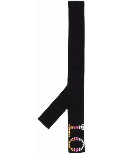 Черный хлопковый галстук Viktor & Rolf
