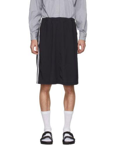 Белая спортивная юбка с карманами в полоску Random Identities