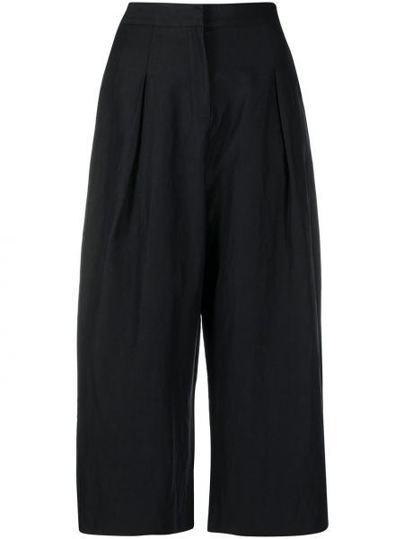Черные укороченные брюки с поясом свободного кроя с потайной застежкой Noon By Noor