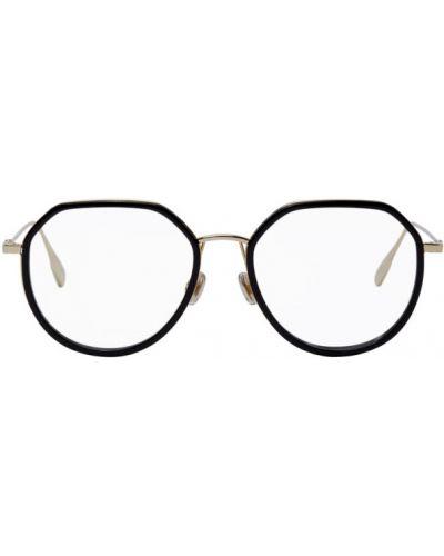 Черные очки для зрения круглые металлические Dior
