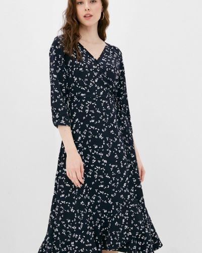 Синее платье с запахом Zarina