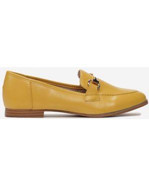 Żółte mokasyny materiałowe Multu
