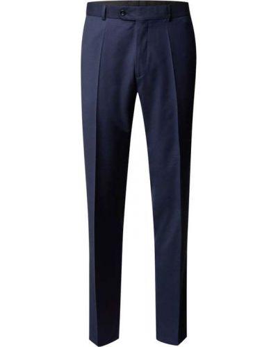 Niebieskie spodnie wełniane Carl Gross