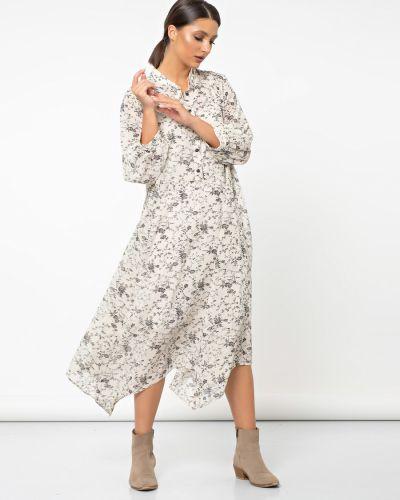 Свободное шифоновое платье на бретелях с воротником Jetty