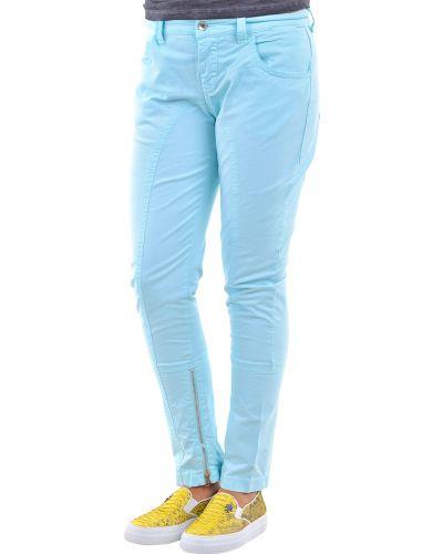 Хлопковые брюки - бирюзовые Moschino Jeans