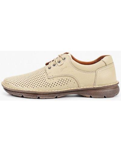 Бежевые туфли из нубука Valser