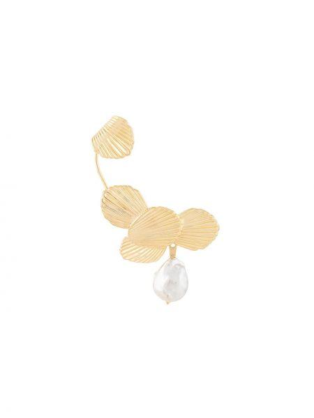 Złote kolczyki perły Joanna Laura Constantine