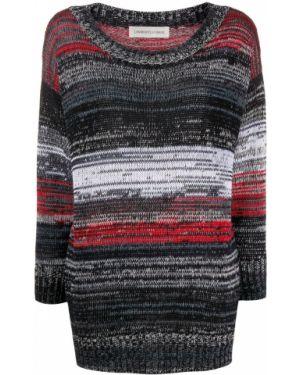 Черный вязаный свитер с круглым вырезом круглый Lamberto Losani