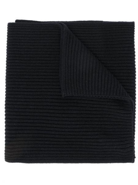 Черный шарф в рубчик Tommy Hilfiger