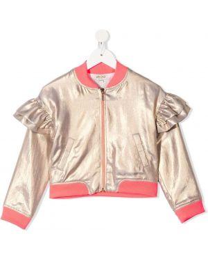 Розовая длинная куртка Kenzo Kids