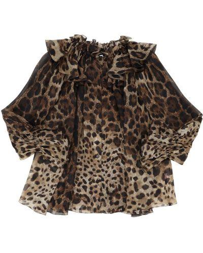 Рубашка с принтом на кнопках Dolce & Gabbana