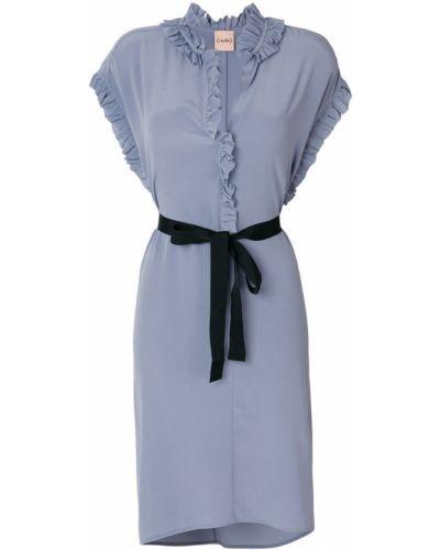 платье с оборочной отделкой Nude