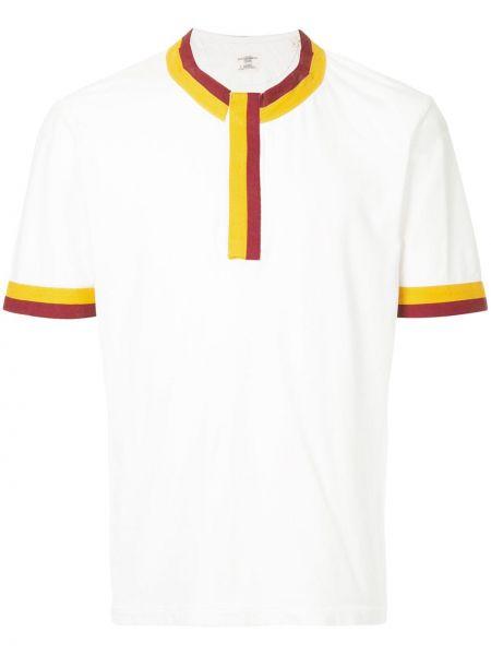 Белая хлопковая футболка с круглым вырезом круглая Kent & Curwen