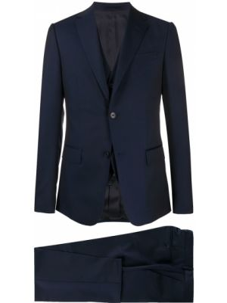 Garnitur kostium niebieski Z Zegna