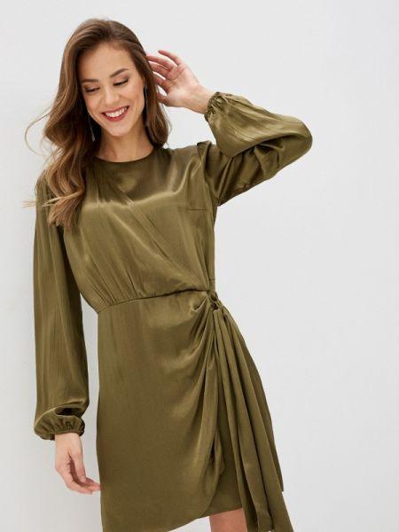 Платье с запахом зеленый Lime