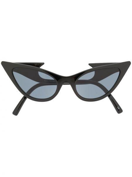 Муслиновые черные солнцезащитные очки Le Specs