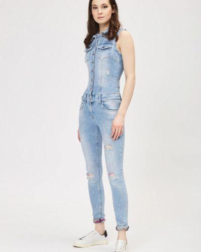 Голубой джинсовый комбинезон D'she