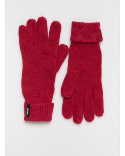 Красные перчатки трикотажные Answear